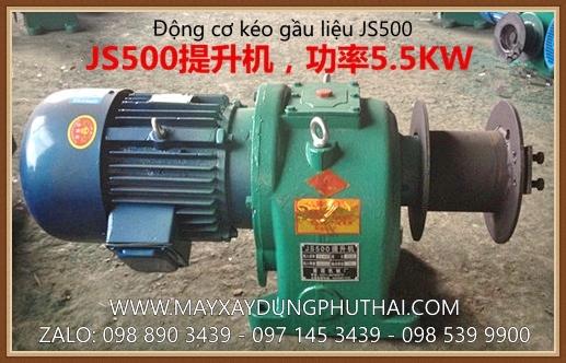 Động cơ gầu kéo liệu JS500