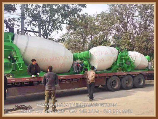 Bồn trộn thủy lực HPT5 giá rẻ, công suất 5m3