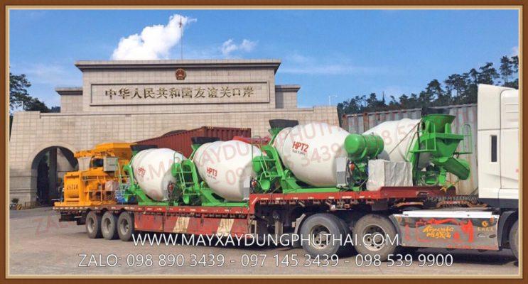Nhập khẩu bồn trộn bê tông thủy lực 3m3 (3 khối)