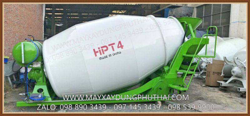 Bồn trộn bê tông 4m3 chạy thủy lực, model HPT4