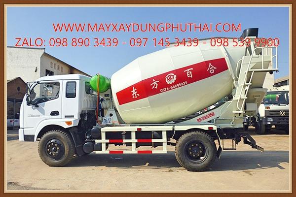 Lắp đặt bồn trộn 6m3 lên xe tải