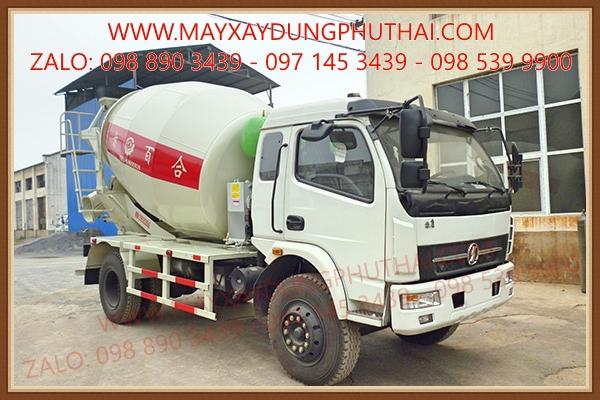 Lắp đặt bồn trộn thủy lực 7 khối lên xe tải