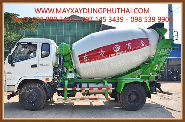 Lắp đặt bồn trộn thủy lực 7m3 lên xe tải