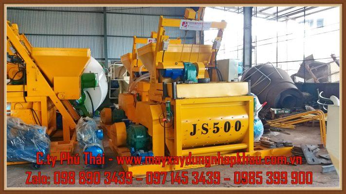 Cối trộn bê tông JS500