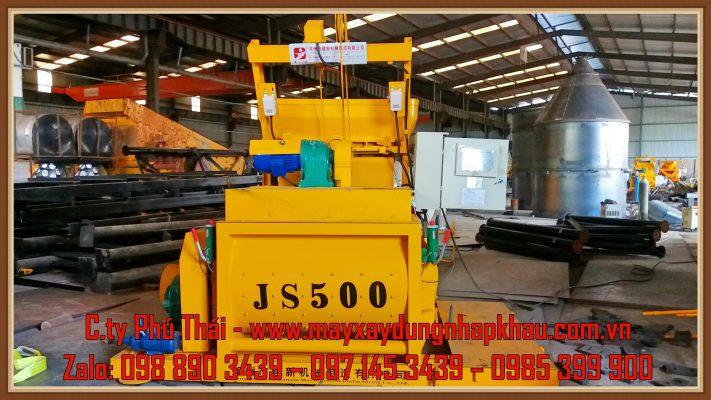 Cối trộn bê tông JS500 chính hãng 100%