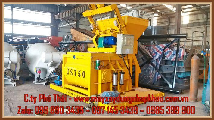 Cối trộn bê tông cưỡng bức JS750
