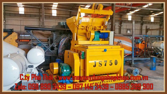 Máy trộn bê tông JS750 giá rẻ