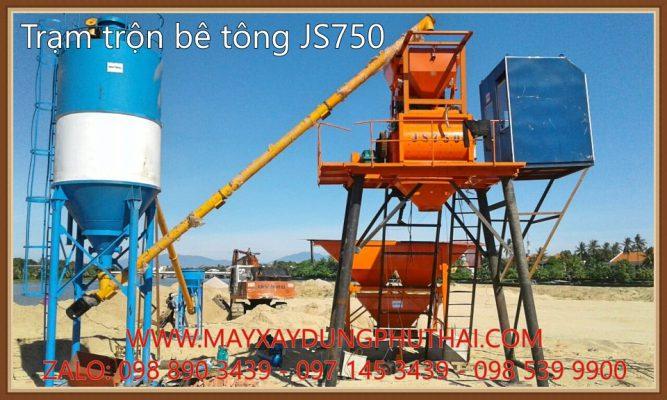 Trạm trộn bê tông JS750 chính hãng