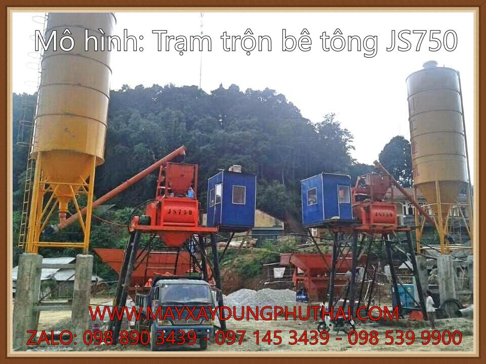 Trạm trộn bê tông JS750