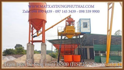 Trạm trộn bê tông JS500 giá rẻ