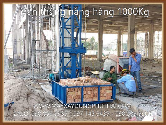 Thử tải Vận Thăng Nâng Hàng 1000Kg