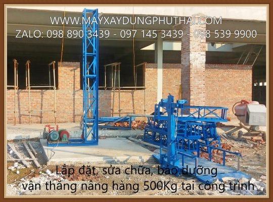 Cho thuê vận thăng hàng 500Kg - 18m