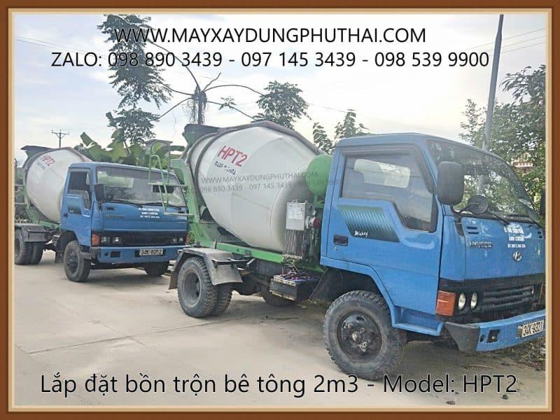 Xe Bồn trộn bê tông HPT2 giá rẻ