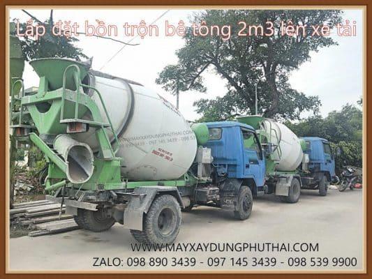 Lắp đặt xe bồn trộn bê tông HPT2