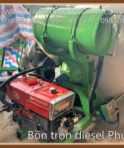 Bồn trộn bê tông diesel