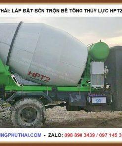 Bồn trộn HPT2 lắp lên xe 3 bánh