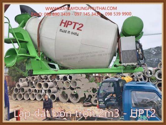 Lắp đặt bồn trộn thủy lực 2m3