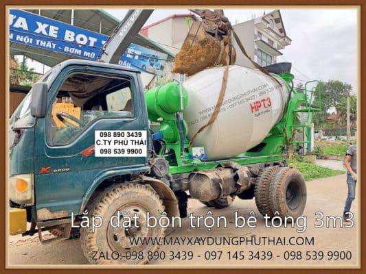 Lắp đặt bồn trộn bê tông 3m3
