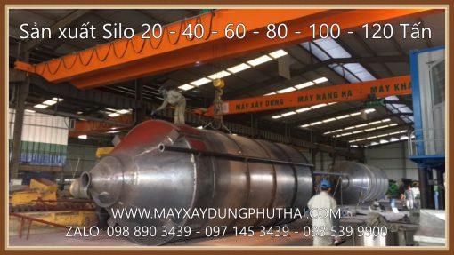 Sản xuất silo chứa xi măng