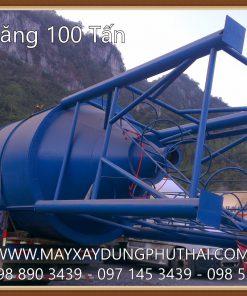Lắp đặt silo xi măng 100 tấn