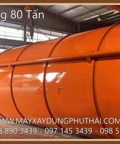 Sản xuất Silo chứa xi măng 80 tấn