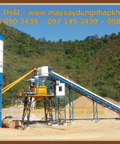 Trạm trộn bê tông xi măng HSZ90