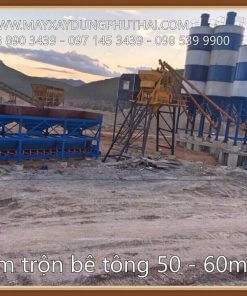 Lắp đặt trạm trộn xi măng 45m3/h