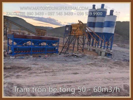 Lắp đặt trạm trộn xi măng HZS50