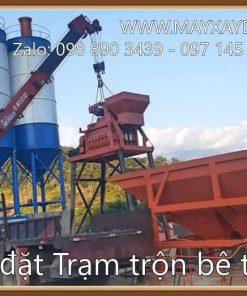 Lắp đặt trạm trộn bê tông tươi HZS60