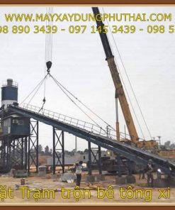 Trạm trộn bê tông 75m3/h model HZS90