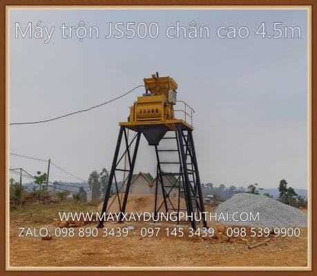 Lắp đặt máy trộn bê tông JS500