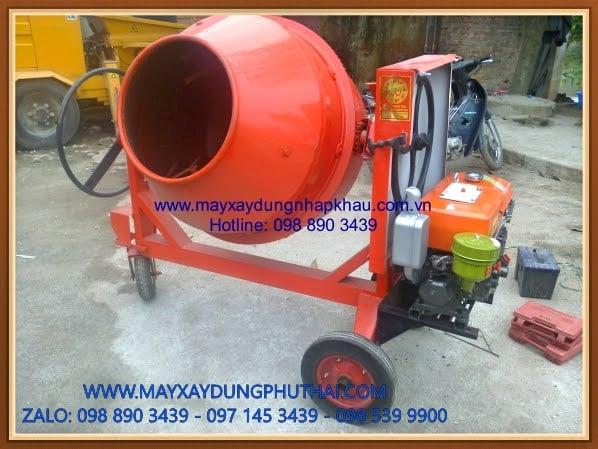 Máy trộn bê tông mini lắp động cơ diesel