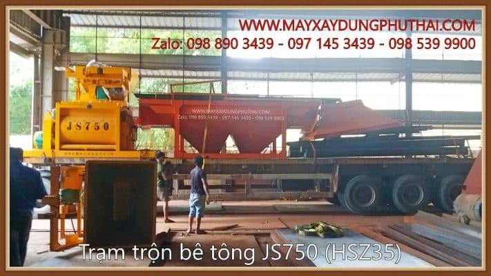 Vận chuyển Trạm trộn bê tông xi măng HSZ35