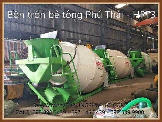 Bồn trộn bê tông thủy lực HPT3 giá rẻ
