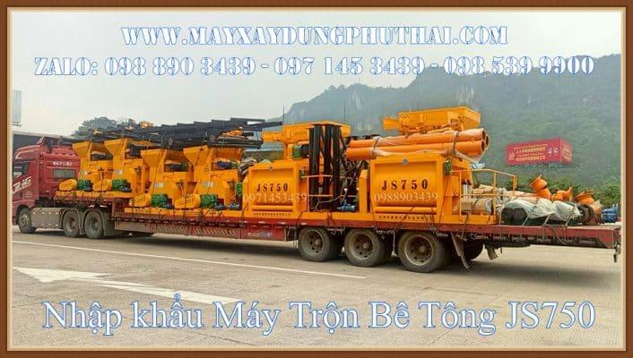 Nhập khẩu máy trộn bê tông chính hãng