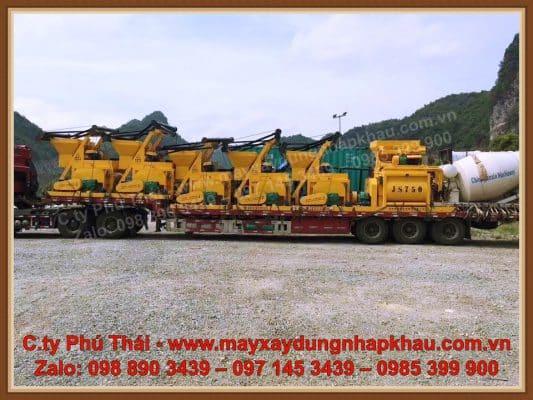 Giá máy trộn bê tông JS750 nhập khẩu