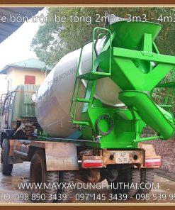 Lắp đặt bồn trộn bê tông 4m3 (HPT4) lên xe tải