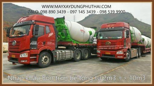 Nhập khẩu và phân phối bồn trộn bê tông thủy lực