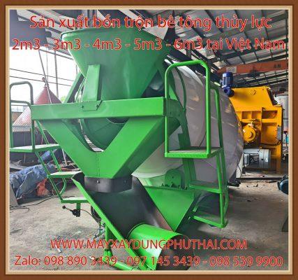 Sản xuất bồn trộn bê tông thủy lực
